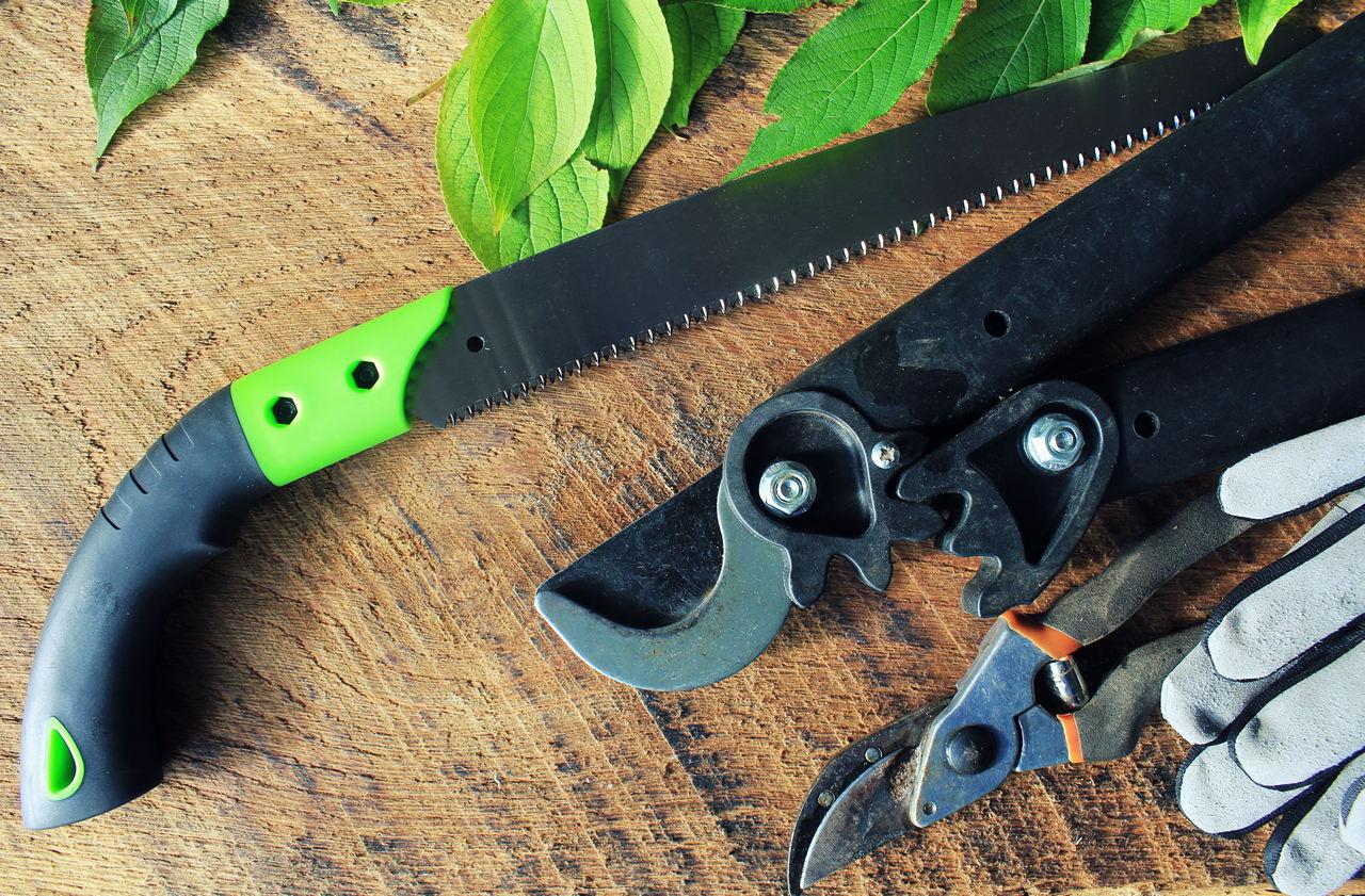 Набор сельскохозяйственных инструментов, садовых и ландшафтных инструментов, пилы, секатора и садовых ножниц
